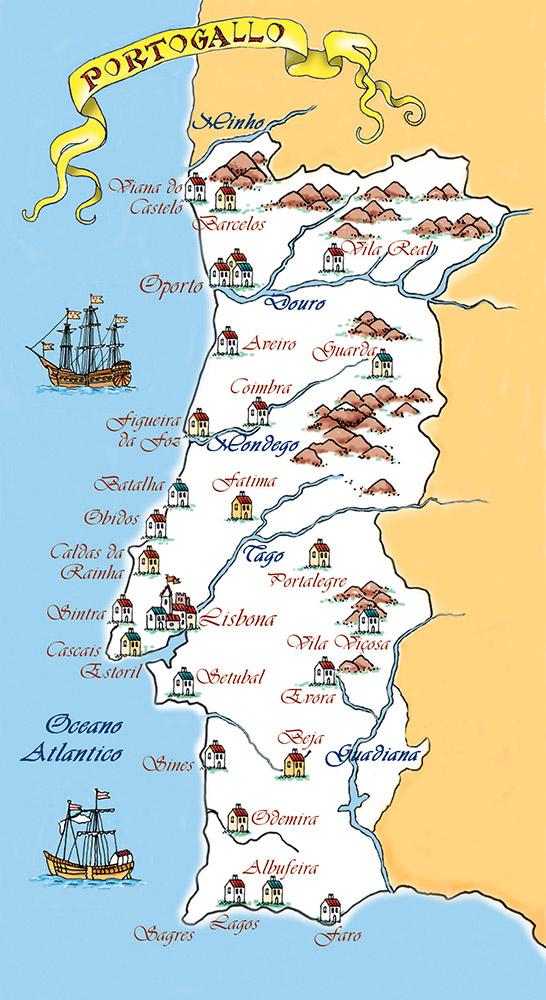 Portogallo Cartina Dettagliata.Cartina Giappone Da Stampare Stampae Colorare